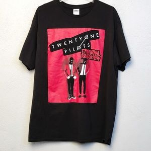 Twenty One Pilots Black Graphic Band T Shirt, XL